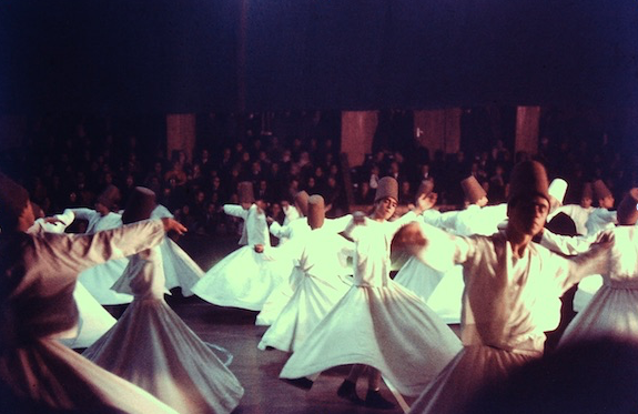 Watching the Whirling Dervishes